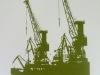 Hafenkräne - Grün